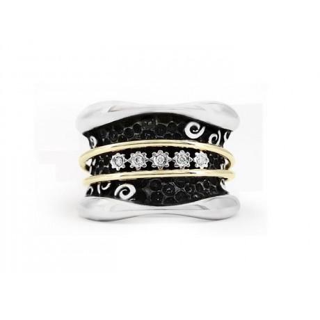 """""""X"""" GOLD & DIAMOND RING"""
