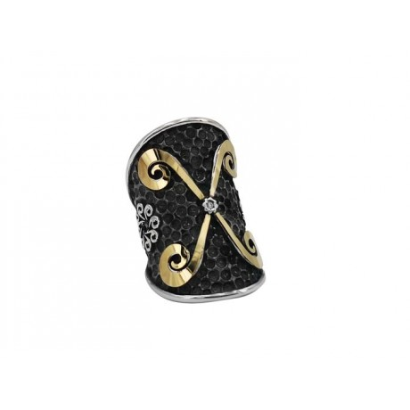 """X"" GOLD & DIAMOND RING"