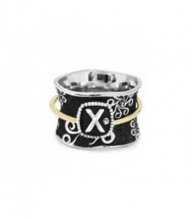 "ALPHABET ""X"" RING"