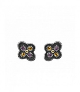ALLEGRIA GOLD & SEMI-PRECIOUS STONES EARRINGS
