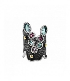 ALLEGRIA GOLD & SEMI-PRECIOUS STONES RING