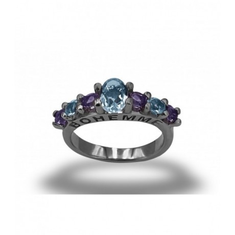 ALLEGRIA 2 TOPAZ AND AMETHYST RINGS