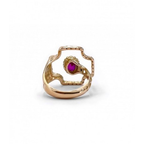 UFO GOLD RUBY RING